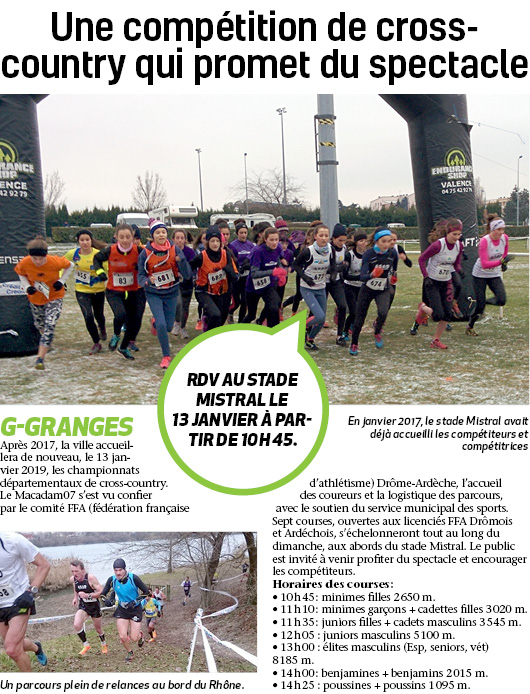 Cross-country au stade Mistral